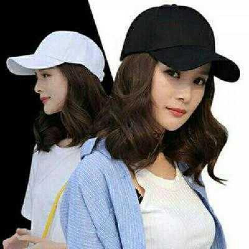 韩国性时尚带头发的帽子。2020新款带帽假发女短发网红发帽一体春