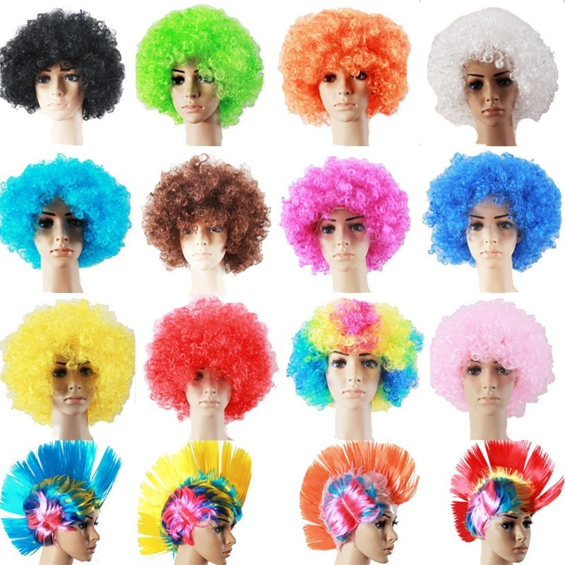 Japanese masquerade role clown accessories circus accessories Carnival Carnival show trick play group children wig decoration