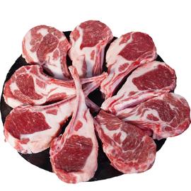 羊排新鲜冷冻羊肉羊小排法式羊排12肋烧烤食材半成品冷冻生鲜