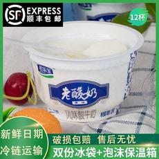 君乐宝老酸奶整箱139g*24杯原味益生菌发酵乳风味儿童代餐酸牛奶
