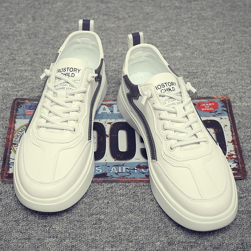 男鞋2020年新款潮韩版百搭轻质简约英伦风今年流行的鞋子男小白鞋