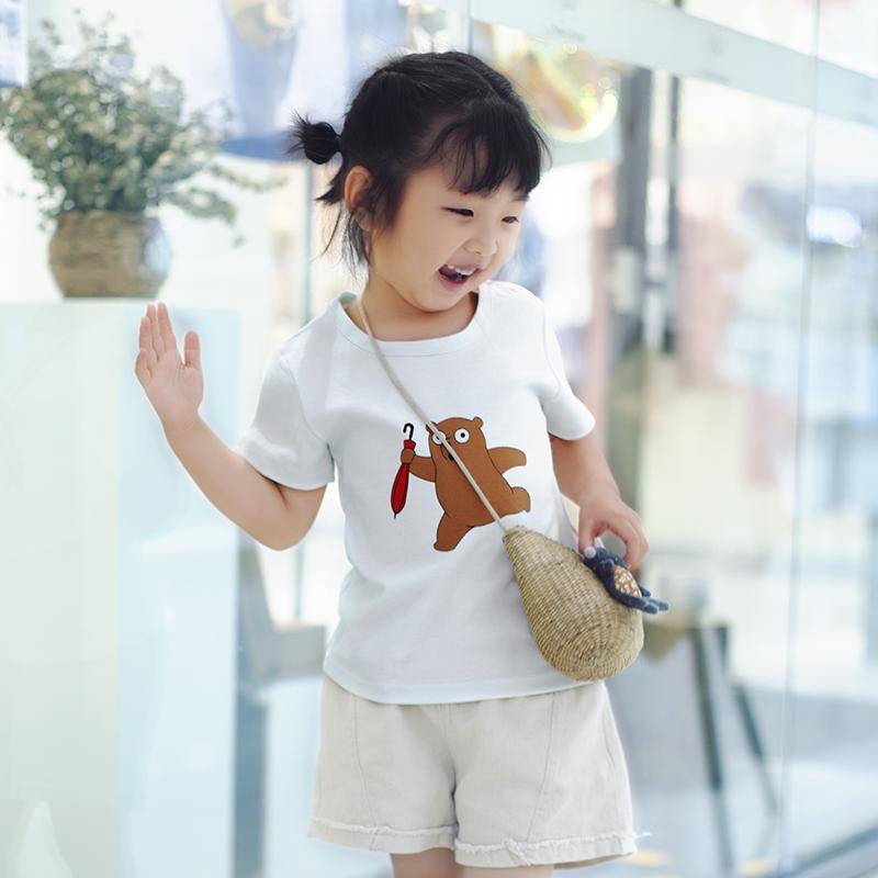 小童短袖t恤夏纯棉儿童女宝宝上衣洋气男童女童夏装男小孩半袖薄