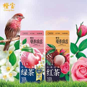 橙宝草本宣言茉莉白桃绿茶四季春风味乌龙茶冬瓜茶果茶组合8盒装