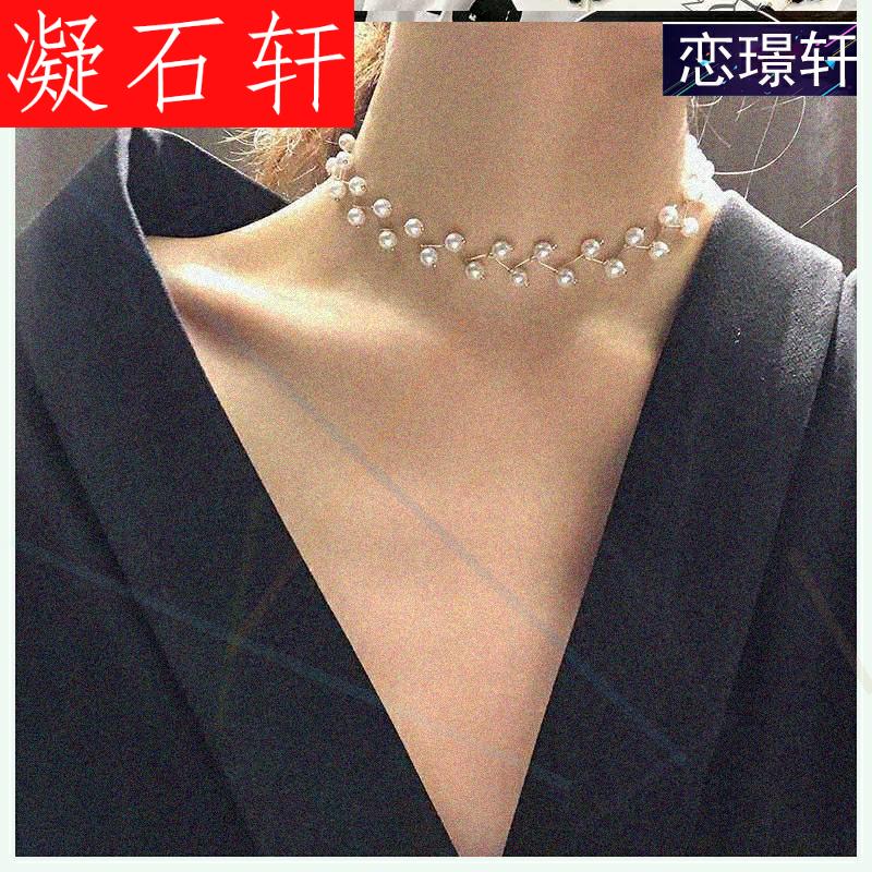 凝石轩脖颈套网红款脖子饰品颈带脖子饰品颈带宽布缎带项链女小众
