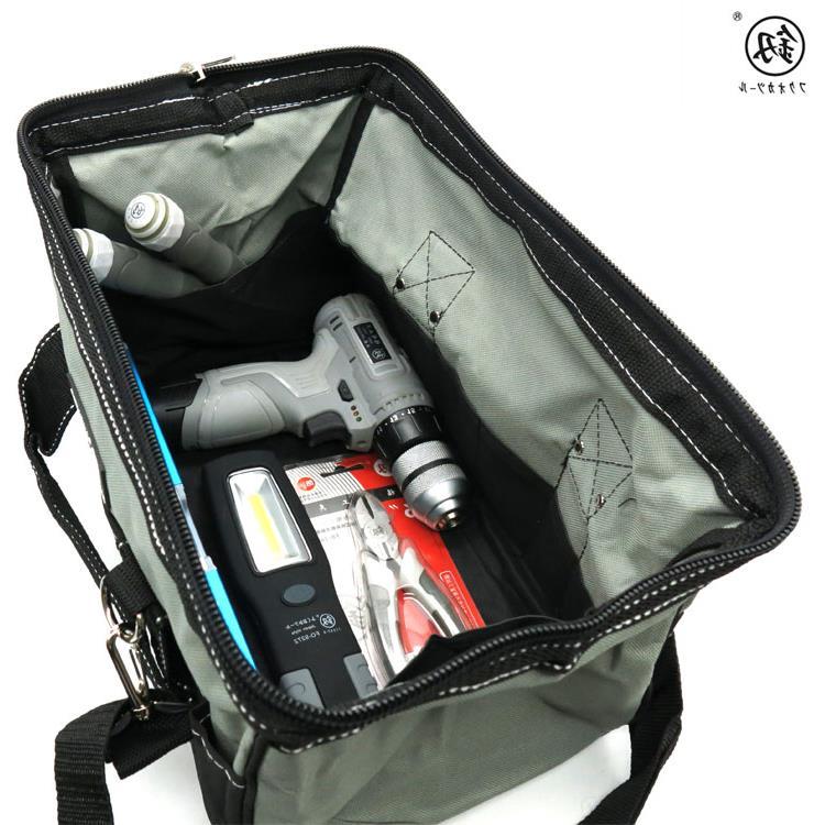 福冈工具包帆布大号多功能空调家电维修包单肩加厚电工包工具袋