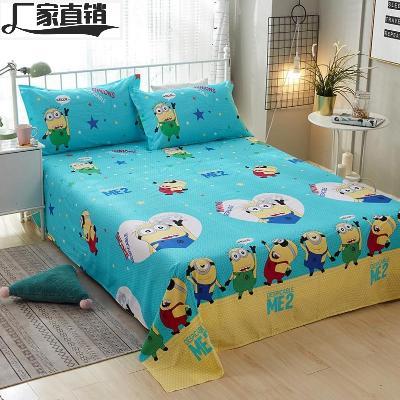 卡通小床单单件宿舍单人纯棉被单儿童学生棉布定做宝宝全棉被罩