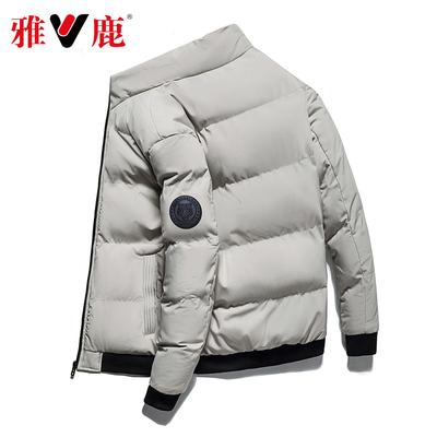 雅鹿男士棉衣冬季外套工装棉服男装新短款韩版潮流加厚保暖棉袄子