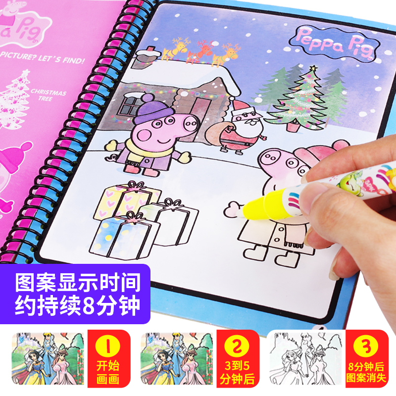 Baby children 0-1-2-3 years old 4 boys and girls children doodle water picture book one year old painting book water writing Magic Book