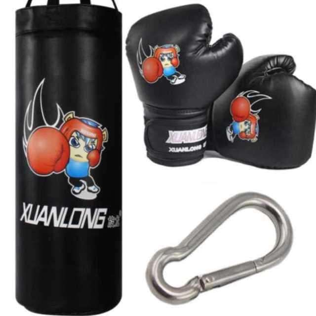 Set sandbag boxing gloves for children Taekwondo children vent hanging bag protector tumbler family sand belt teenagers