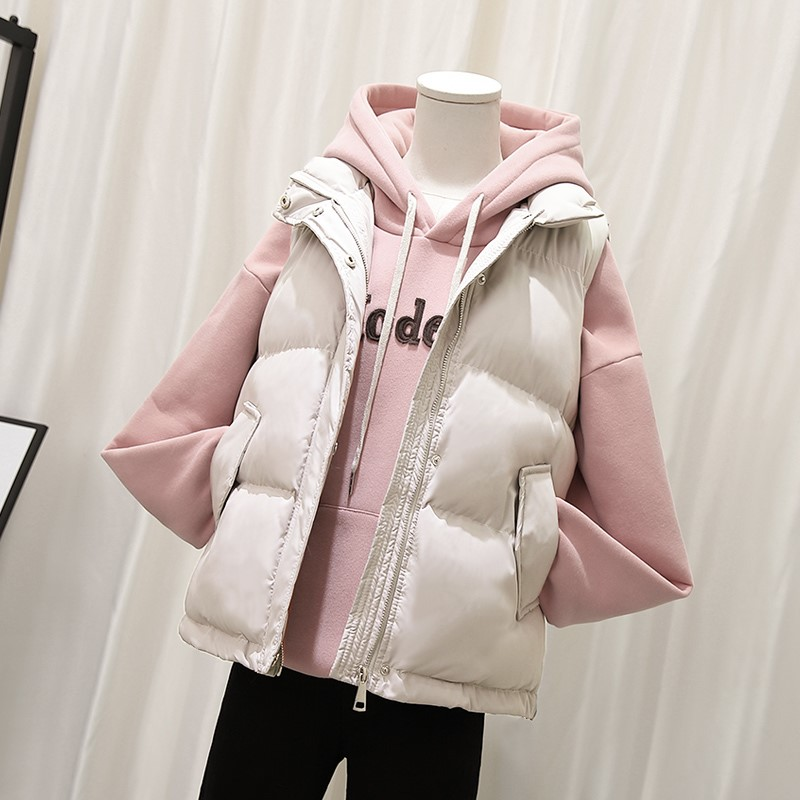 2020 autumn and winter new down cotton vest female short student Korean loose waistcoat vest vest jacket