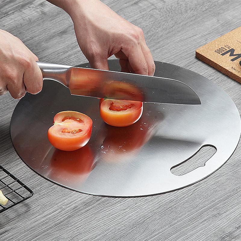 面加厚 切水果砧板家用安全切肉案板很耐用不锈钢304圆形切菜板(用1元券)
