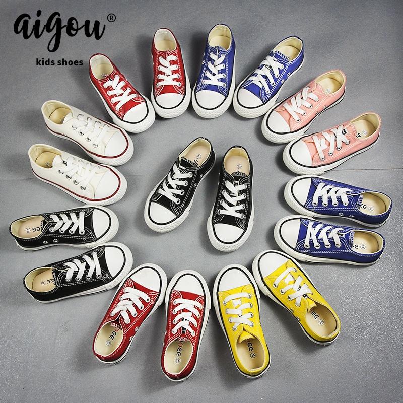 儿童帆布鞋女童鞋子2020新款春秋季低帮小白鞋中大童男童板鞋布鞋