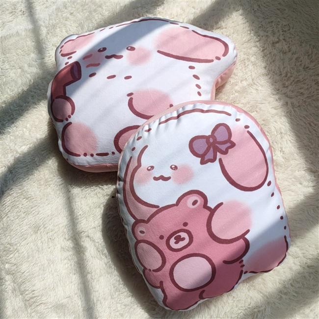 正品懒懒兔周边原创设计可爱柔软抱枕动漫卡通天鹅绒靠垫玩具公仔