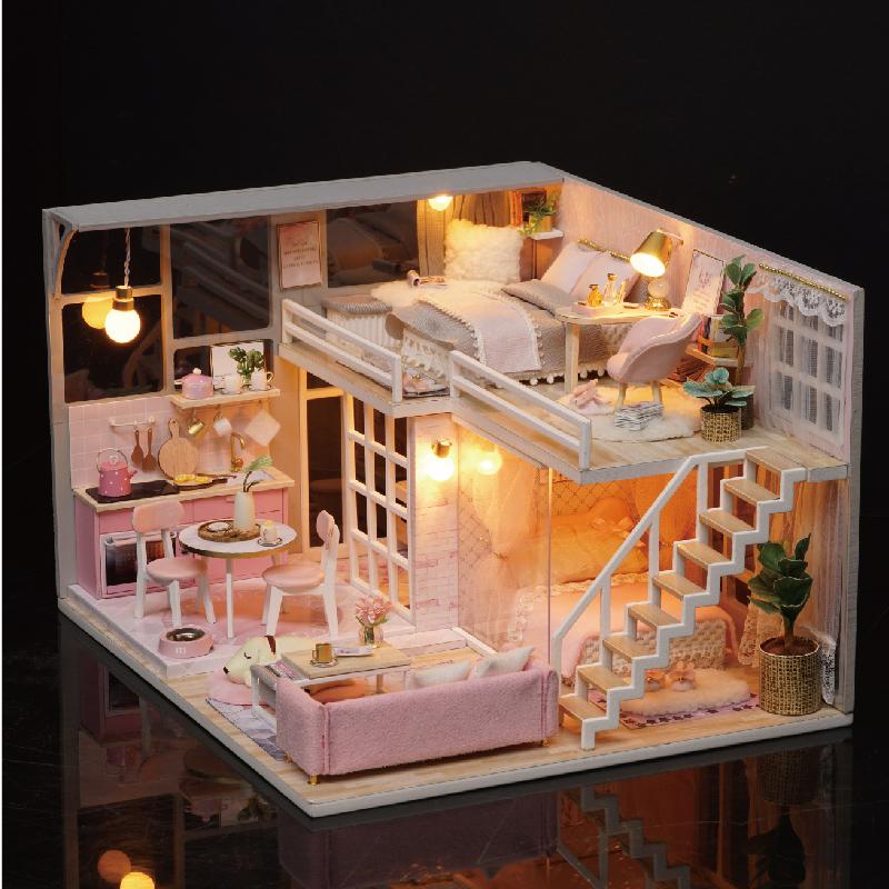diy小屋梦想天使房子模型手工建筑创意制作玩具拼装生日礼物女生11-08新券