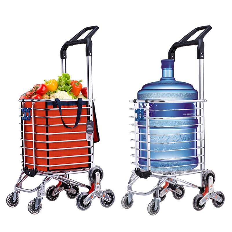 购物车买菜车小拉车可折叠爬楼手拉车便携爬楼梯老人拉杆家用轻便,可领取10元天猫优惠券