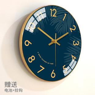 简约钟表卧室静音时钟创意挂表 梵现代挂钟客厅北欧表挂墙家用时尚