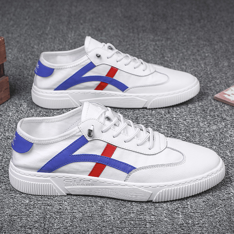 Korean mens shoes 2020 new spring Korean cloth shoes Velcro fashion shoes without lace up high top canvas