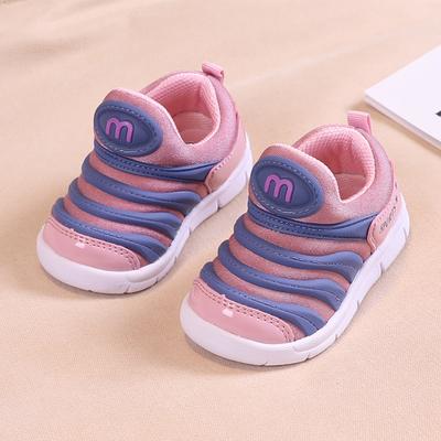 儿童毛毛虫童鞋春秋新款男婴童机能鞋女童0一1-3岁宝宝软底学步鞋