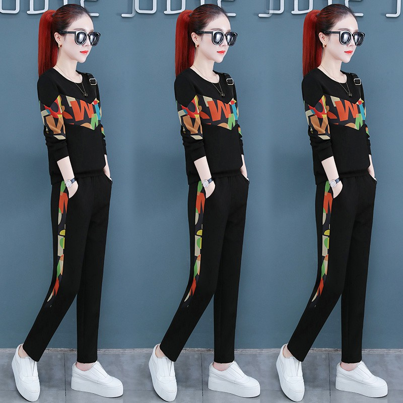 Bagpipes in spring 2020 new womens fashion suit fashion fat mm sister blushes and has seen two pieces