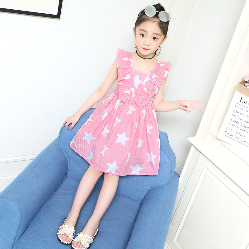 Childrens dress summer dress 2020 new Korean version girls dress skirt summer thin foreign style little girl princess skirt