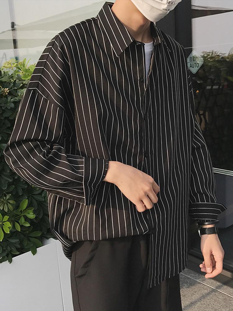 (用10元券)@港仔文艺男秋季chic韩版白衬衣