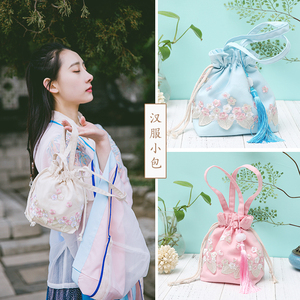 古风包包中国古风手工蕾丝布包日常汉服配饰包袋流苏斜挎手提女包