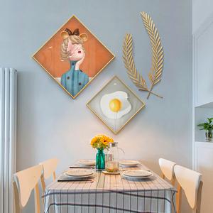 轻奢风餐厅现代简约北欧厨房挂画