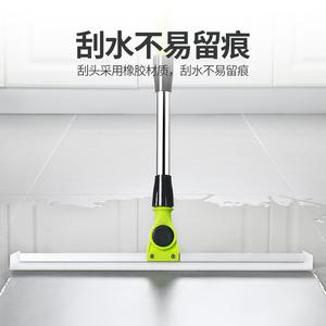 地面刮水器不锈钢大号硅胶地刮推水刮地器橡胶地板刮瓷砖刮刀