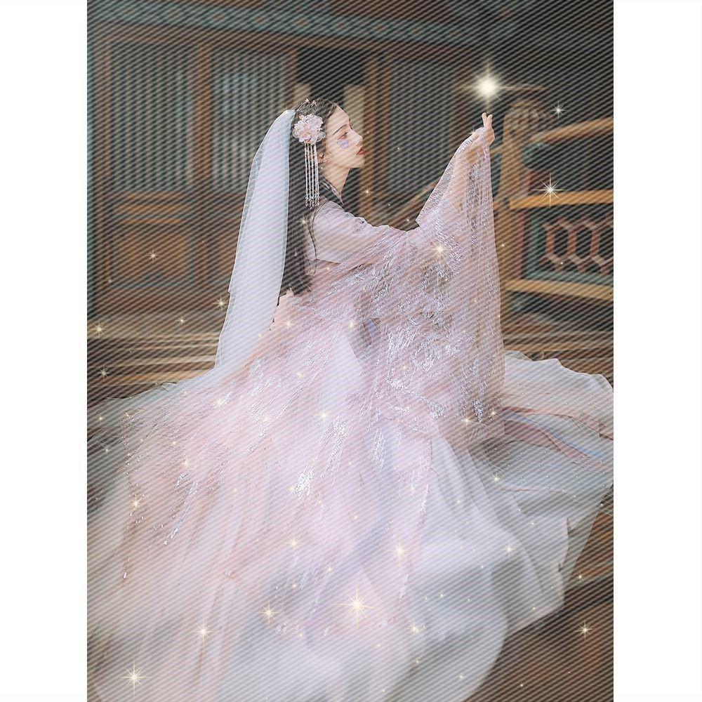 汉尚华莲鲛人泪花嫁传统汉服女夜弦歌超仙玄姬九尾齐胸襦裙大袖衫需要用券