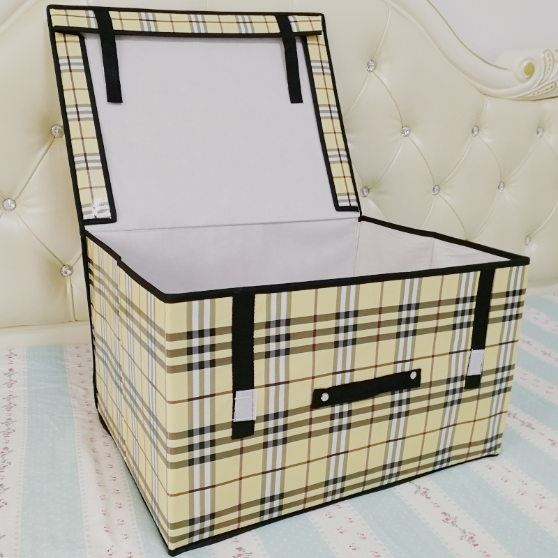 Storage box arrangement box clothes household cloth extra large storage box bed quilt folding non woven fabric clearance