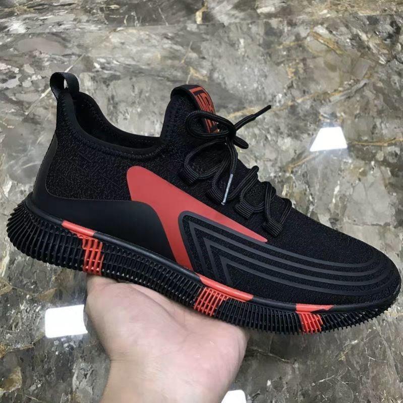 タオバオ仕入れ代行-ibuy99 运动鞋 夏季新款透气纯黑色休闲运动鞋软底网面鞋男士工作上班全黑男鞋子