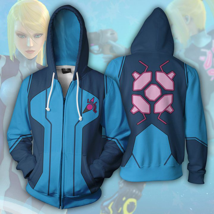 Full color printed top Galaxy tights warrior anime sweater Cosplay hooded cardigan zipper coat