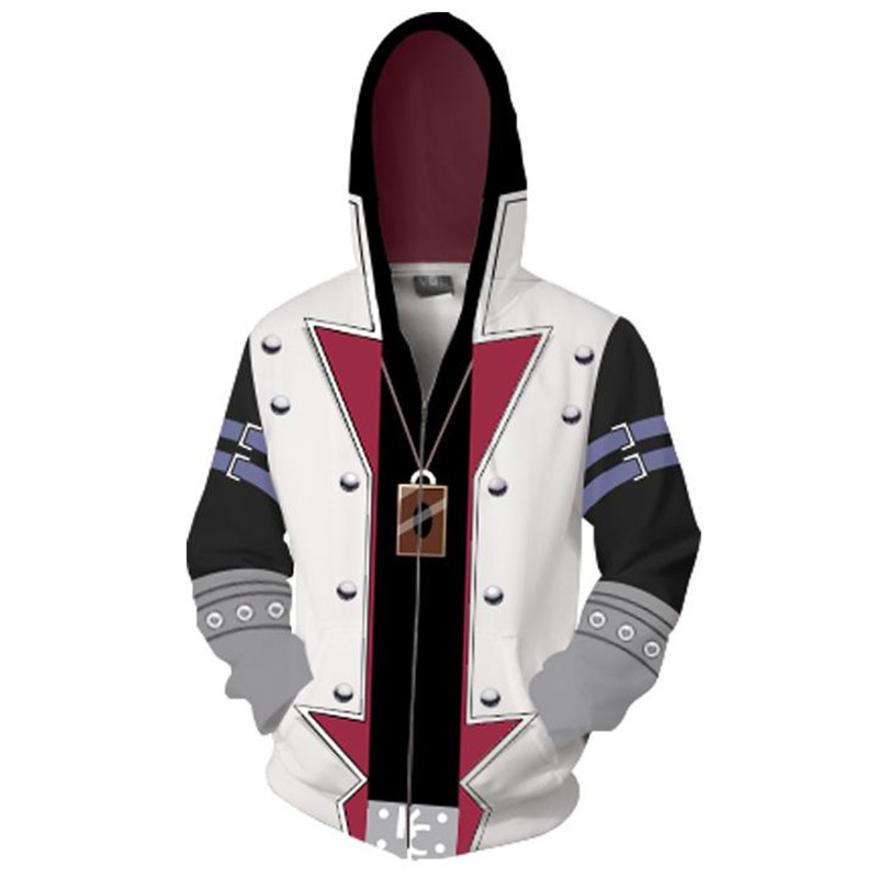 3D printed sweater cardigan Hoodie animation surrounding zipper full color coat mens and womens large sportswear