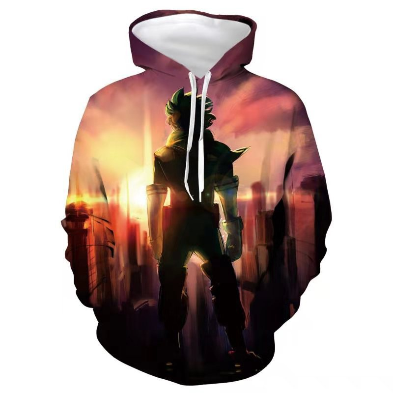 New green valley sweater my little hero academy season 5 full color clothing Animation 3D printing Hoodie