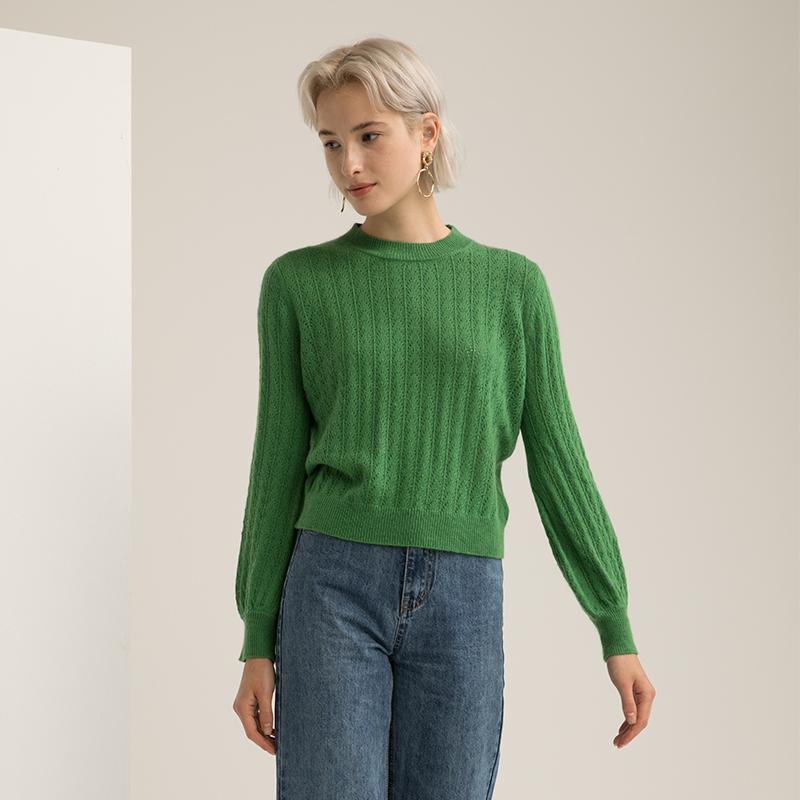 季薇娜半高领针织衫女ins初秋显白毛衣中长款外穿打底羊毛外套潮