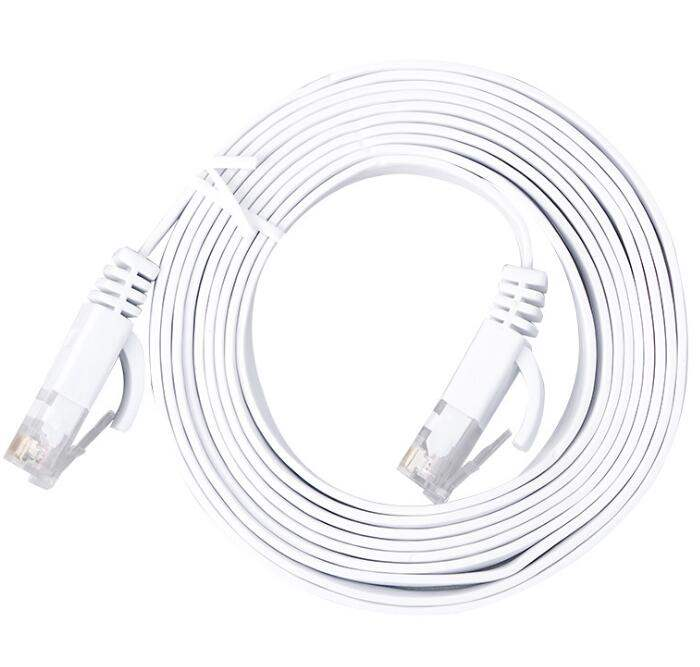 Broadband computer network cable category 6 gigabit network cable household high speed router flat line product 5m10m20m30m