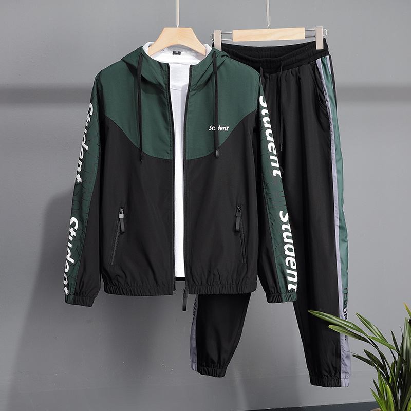 Sports suit men's spring and autumn and winter 2020 new leisure clothing trend youth Wei Yi autumn and winter two piece suit