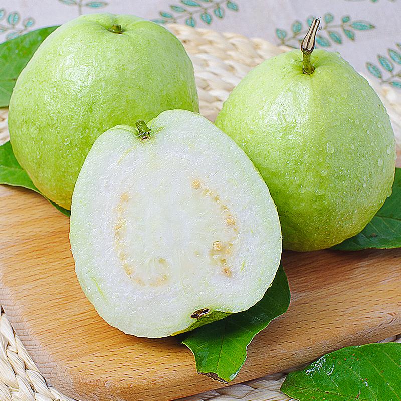 广东高山白心珍珠番石榴白肉台湾芭乐孕妇新鲜水果中大果5斤包邮