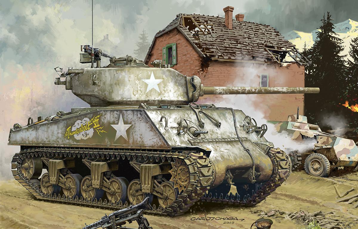 【海光】 ts043 1\/35美国中型坦克谢尔曼m4a3(76)w