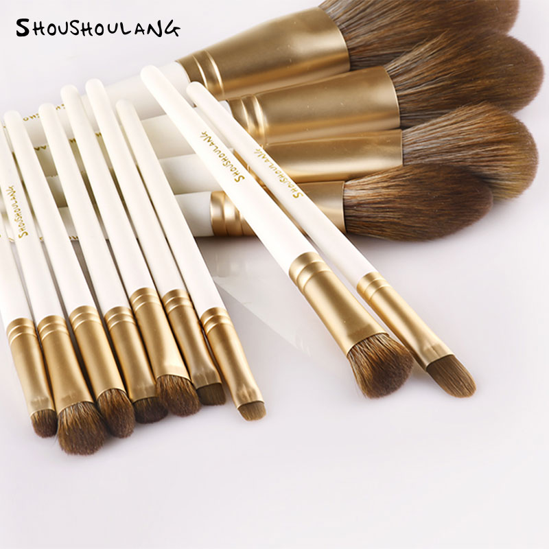 Shoushoulang/ suffer from wolf beauty 13 makeup brushes powder, brush blush brush high gloss brush.