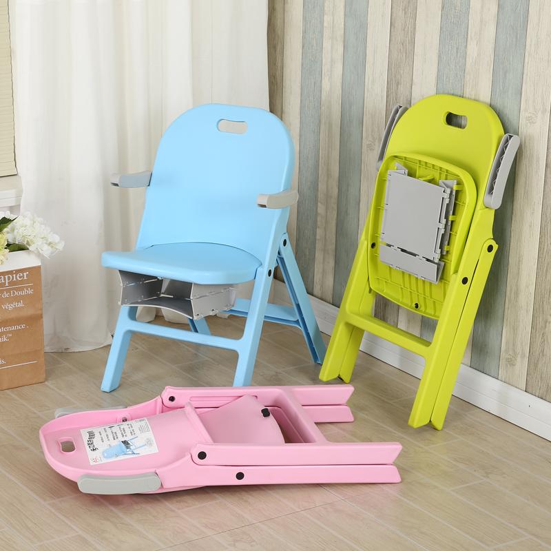 儿童折叠椅子靠背户外钓鱼便携式塑料扶手可收纳家用成人板凳加厚