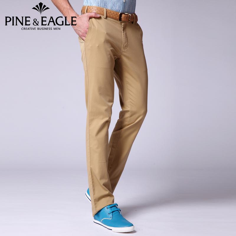 Pine Eagle Bernie inger off size warehouse cleaning casual pants mens slim straight Pants Khaki Pants mid waist non iron summer