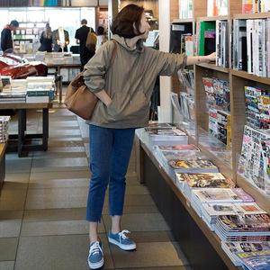 现正品原版韩国东大门代购女装卫衣女2021新款春防风风衣连帽外套
