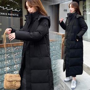 羽绒棉服棉衣女韩版宽松冬季外套长款过膝2020年新款冬装棉袄加厚