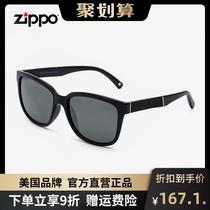 网红黑色方框墨镜潮男女黑超太阳眼镜开车偏光镜Z11108美国zippo