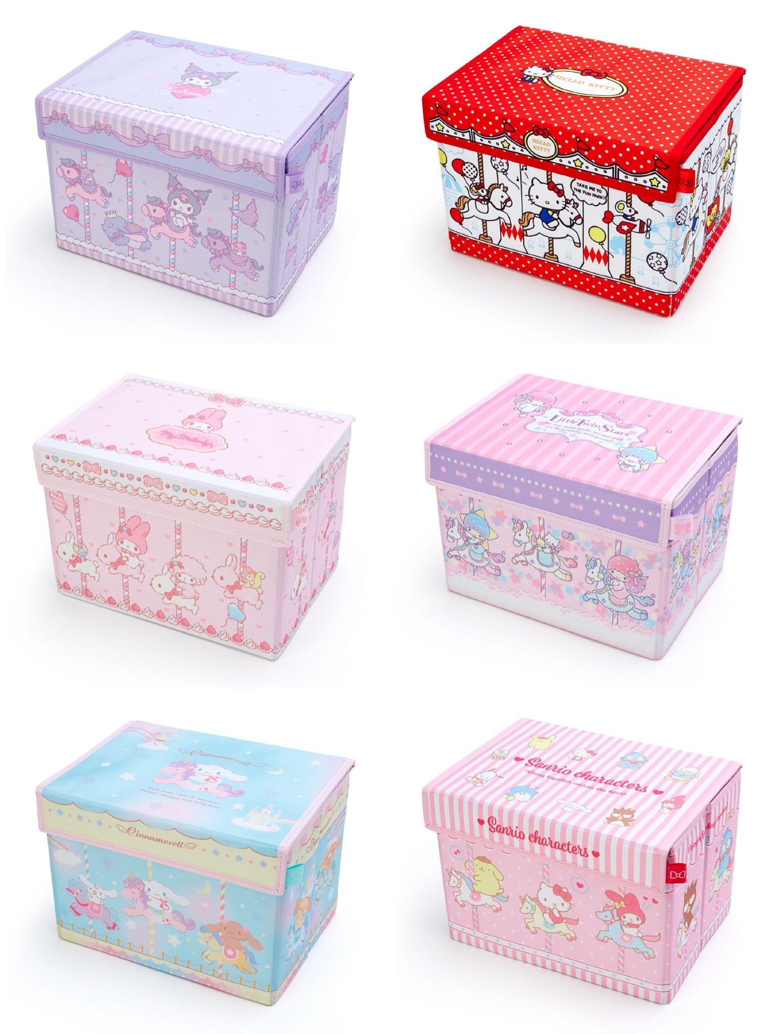 布艺收纳箱 卡通可折叠储物箱 美乐蒂双子星宿舍收纳整理箱杂物箱 Изображение 1