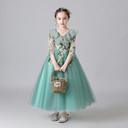 儿童生日公主裙钢琴演出服冬晚礼服