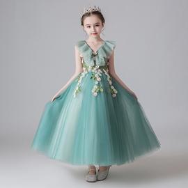 儿童公主裙蓬蓬纱洋气模特走秀女童钢琴表演礼服主持人花童晚礼服