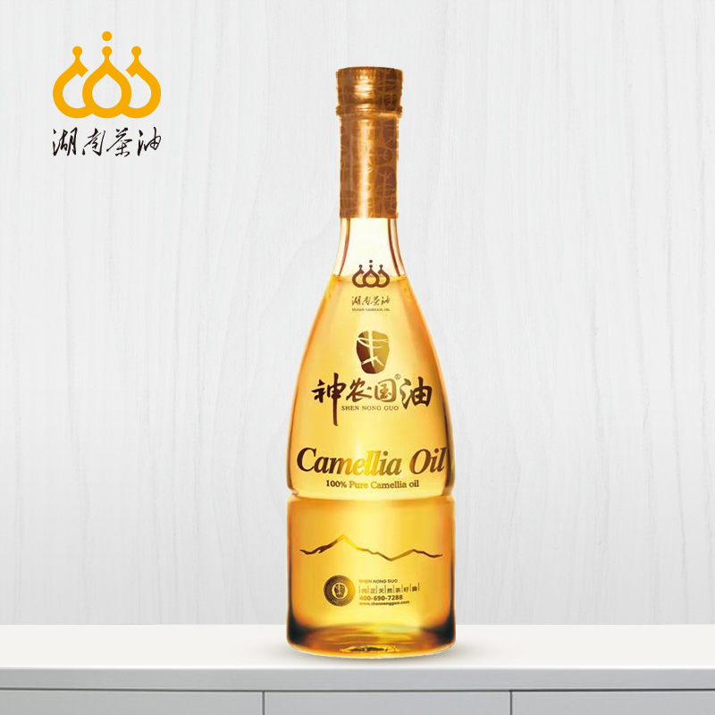 Hunan tea oil shennongguo oil tea seed oil pure natural tea seed oil healthy edible oil family pack 500ml