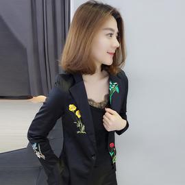 欧洲站春装女2020年新款欧货潮洋气刺绣时尚气质高端显瘦西装外套